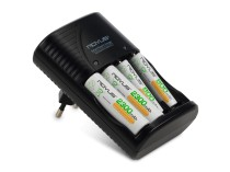 Karikues Baterish + 4 bateri Rovus