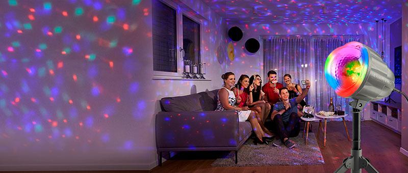 Glob me drita shumëngjyrëshe